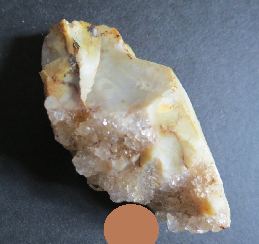 Flint Ridge, Ohio, bird figure find with exploitation of quartz crystals