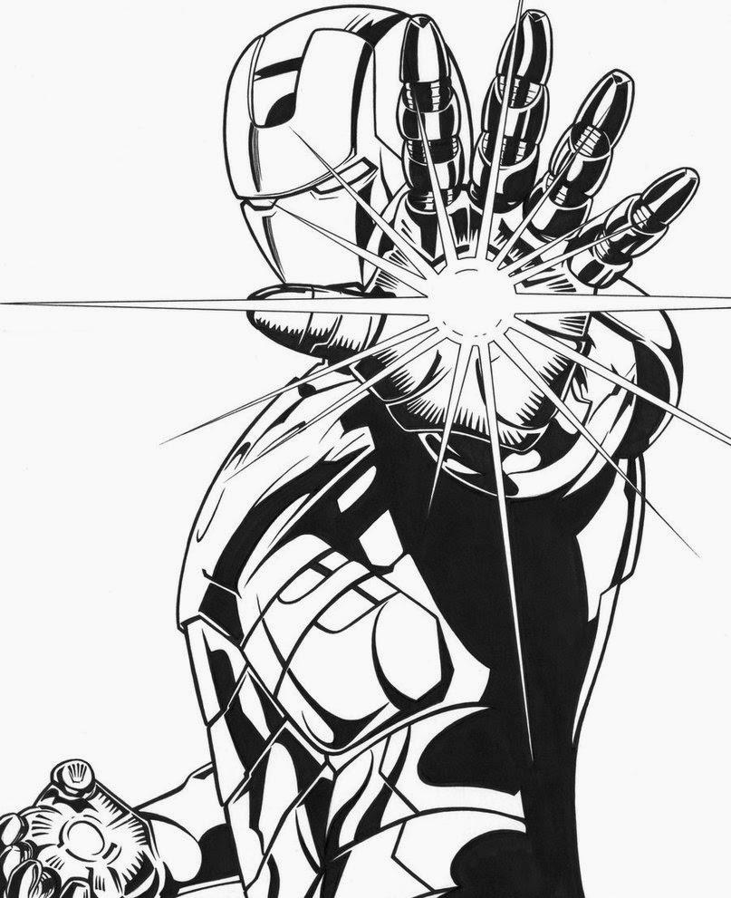 Imagenes para colorear de iron man 3 - Imagui