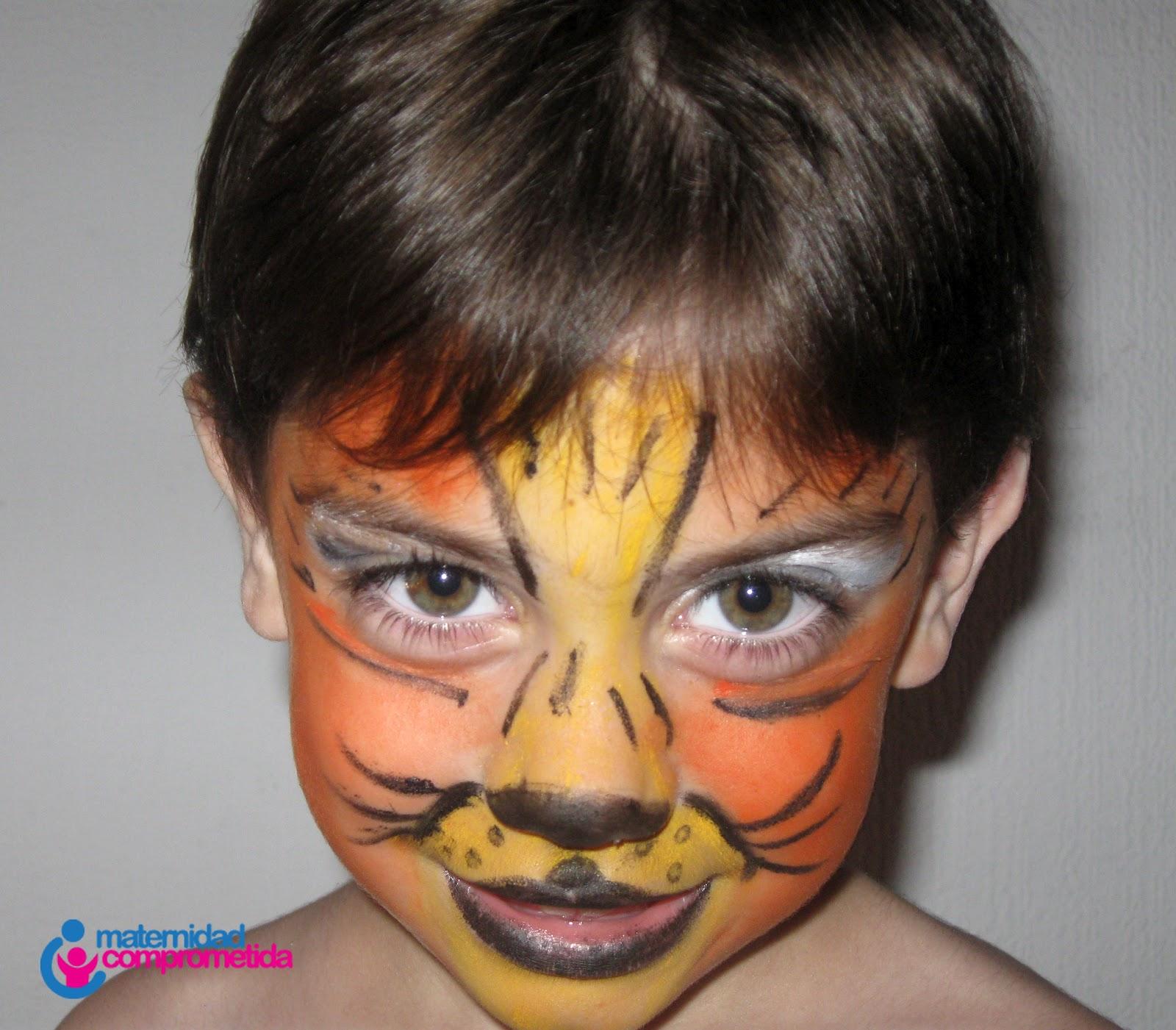cara pintada de gato imagui