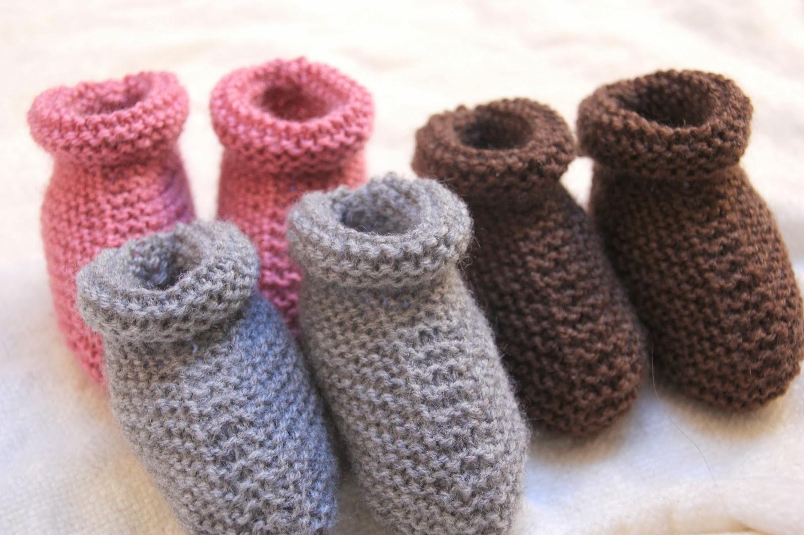 Tutoriales patucos de lana DIY con dos agujas (patrón gratis ...