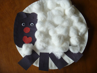 Try It Tuesday Paper Plate Lamb Craft with Shapes & Save Green Being Green: Try It Tuesday: Paper Plate Lamb Craft with ...