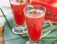 Suco de Melancia com Limão e Hortelã (vegana)