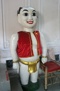 """Chú Tễu"" - a major hero in Vietnamese water puppetry."