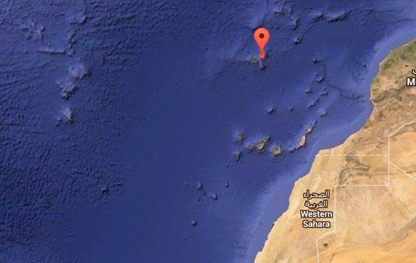 Terremoto 4 grados Atlántico Madeira norte Canarias