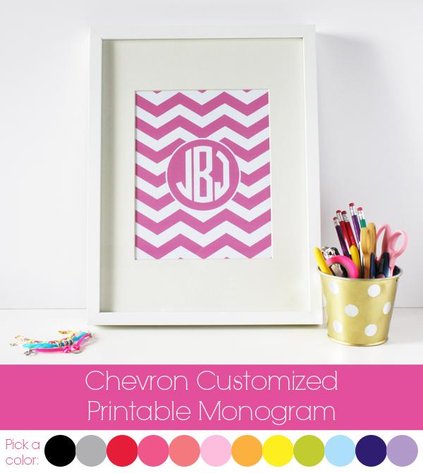Two it yourself diy baby gift monogrammed chevron peg frame for Free printable monogram
