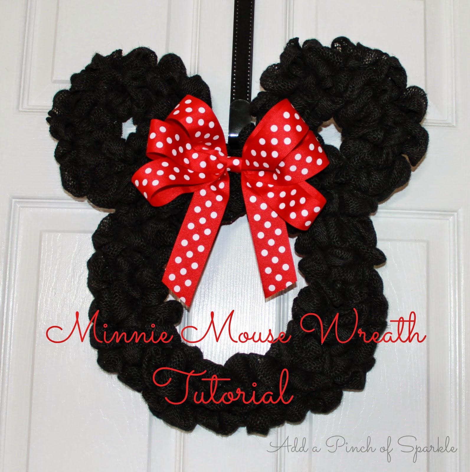 Minnie Mouse Wreath: Tutorial