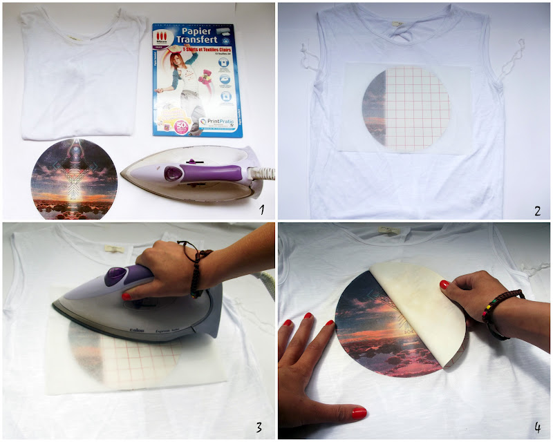 Ifoundmysoulmate diy print top - Transfert tissu fer a repasser ...