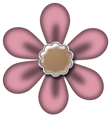 Free Blush Digital Scrapbook Flower 44