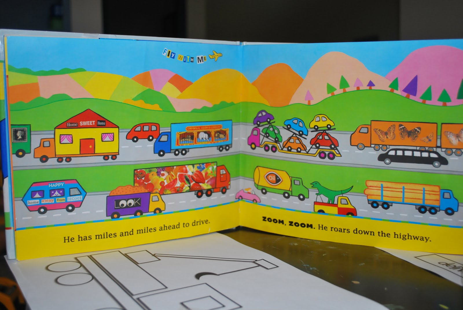 Structured Play: Pattern Puzzles- Truck Shapes