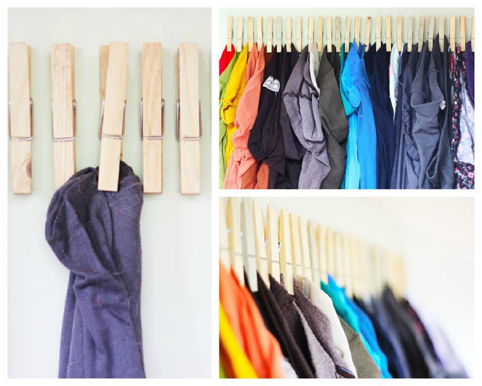 Reciclando todo y mas colgando ropa for Colgador ropa pared