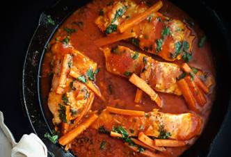 Moroccan Salmon with Carrots