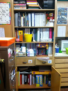 photo of classroom photo Teaching With Style  3rd grade organization binder storage