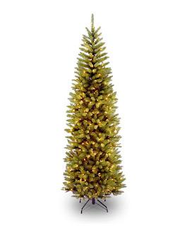 350 Clear Lights 7 1/2' Kingswood Fir Pencil Tree, Hinged