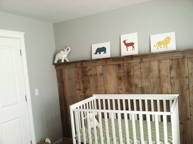 barnwood wall, barn wood, boy nursery