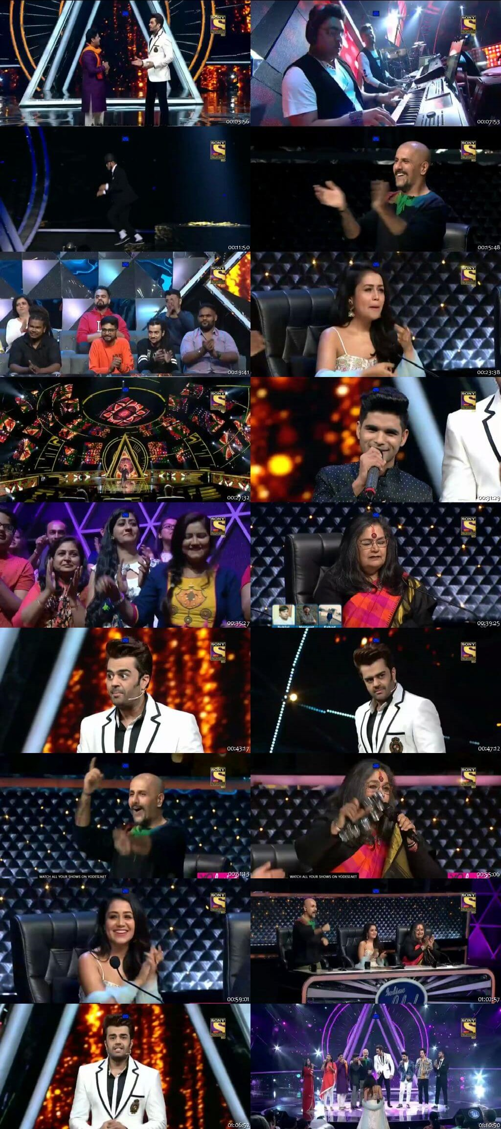 Screenshots Of Hindi Show Indian Idol 17th November 2018 Episode 39 300MB 480P HD
