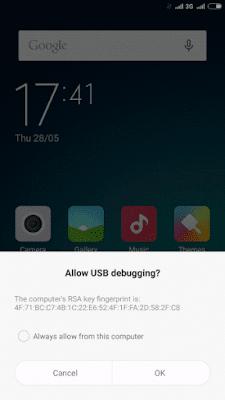 Allow Usb debugging Xiaomi