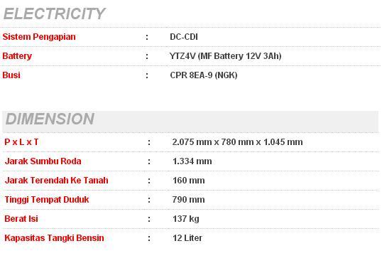 Spesifikasi New Yamaha Byson 2013