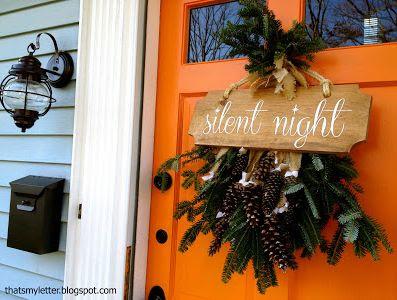 "DIY ""Silent Night"" Sign"