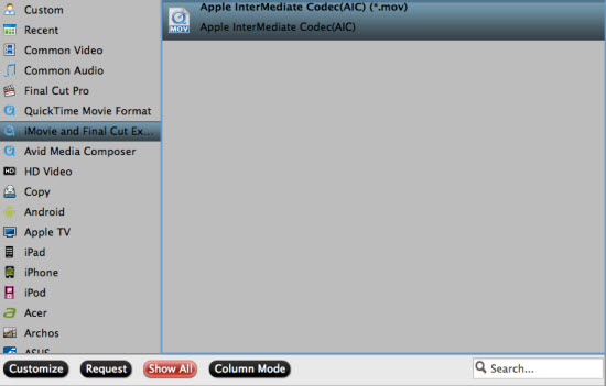 convert mxf to aic mov for imovie