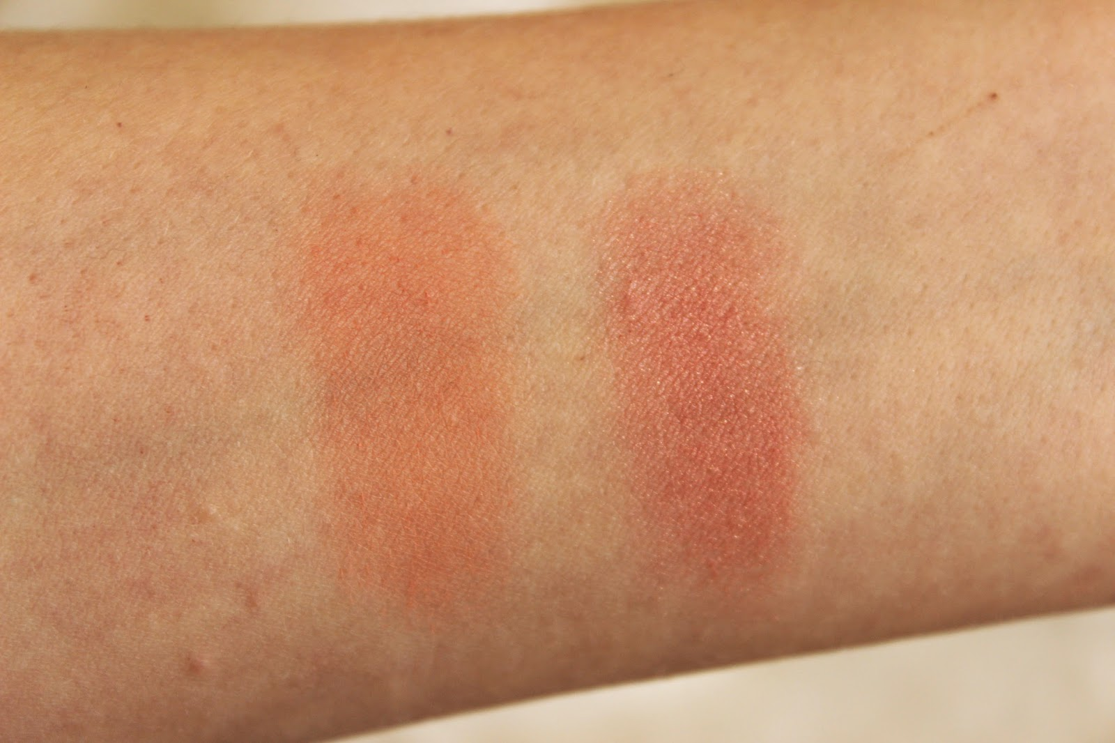 mac blush swatch