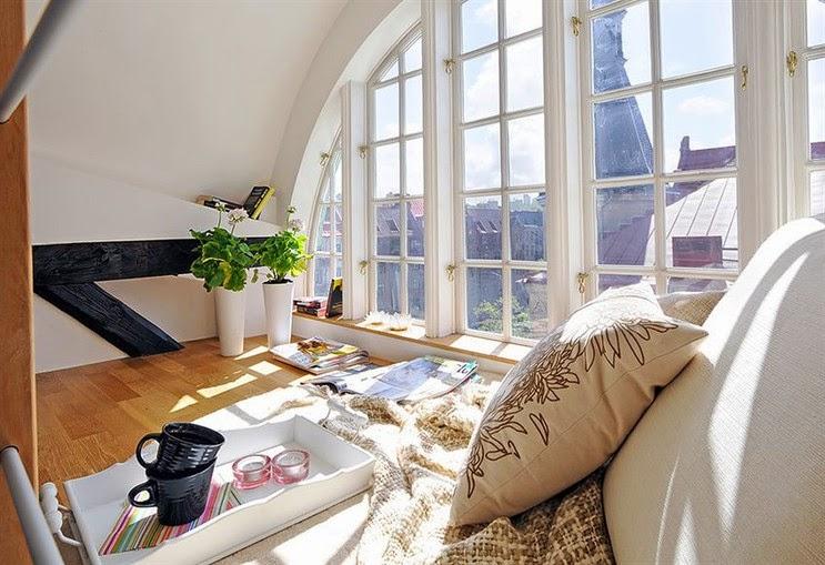 big windows, duże okna, Loft, witryny, Świat przez duże okna, window seat,