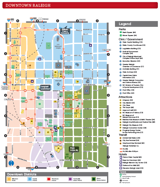Downtown Raleigh Real Estate: Downtown Raleigh Map, Attractions ...