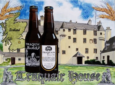 Traquair House beer art