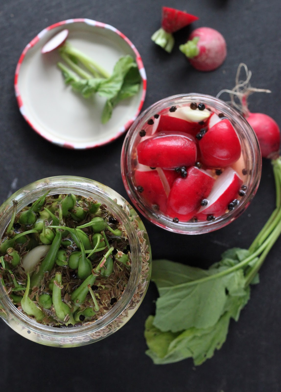 ... : Holding on to Summer: Easy Pickled Radishes and Pickled Green Beans