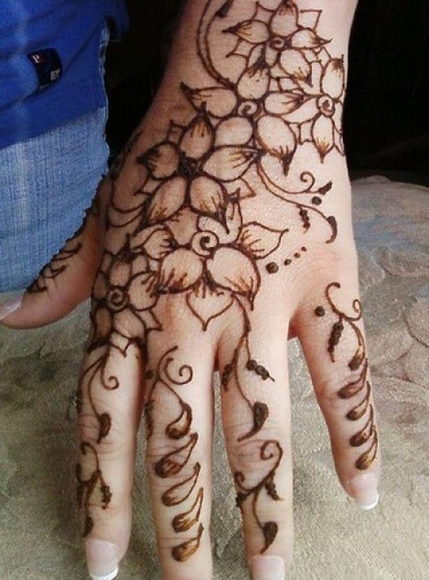 Mehndi Back Hand Flower : Amehndidesign top floral mehndi designs for women