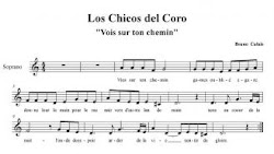 "Los Chicos del Coro,""Vois sur ton chemin"""
