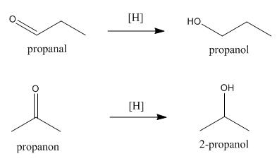 reduksi aldehida keton
