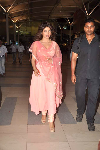 Actress Priyanka Chopra spotted in Indian traditional dress
