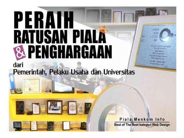 Penghargaan Kursus Online Sekolah Pintar dari Pemerintah, Pelaku Usaha, dan Universitas.