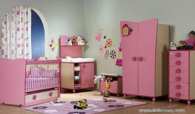 pembe renkte mobilyali bebek odasi takimi modelleri En Güzel Bebek Odası Takımları Ve Resimleri