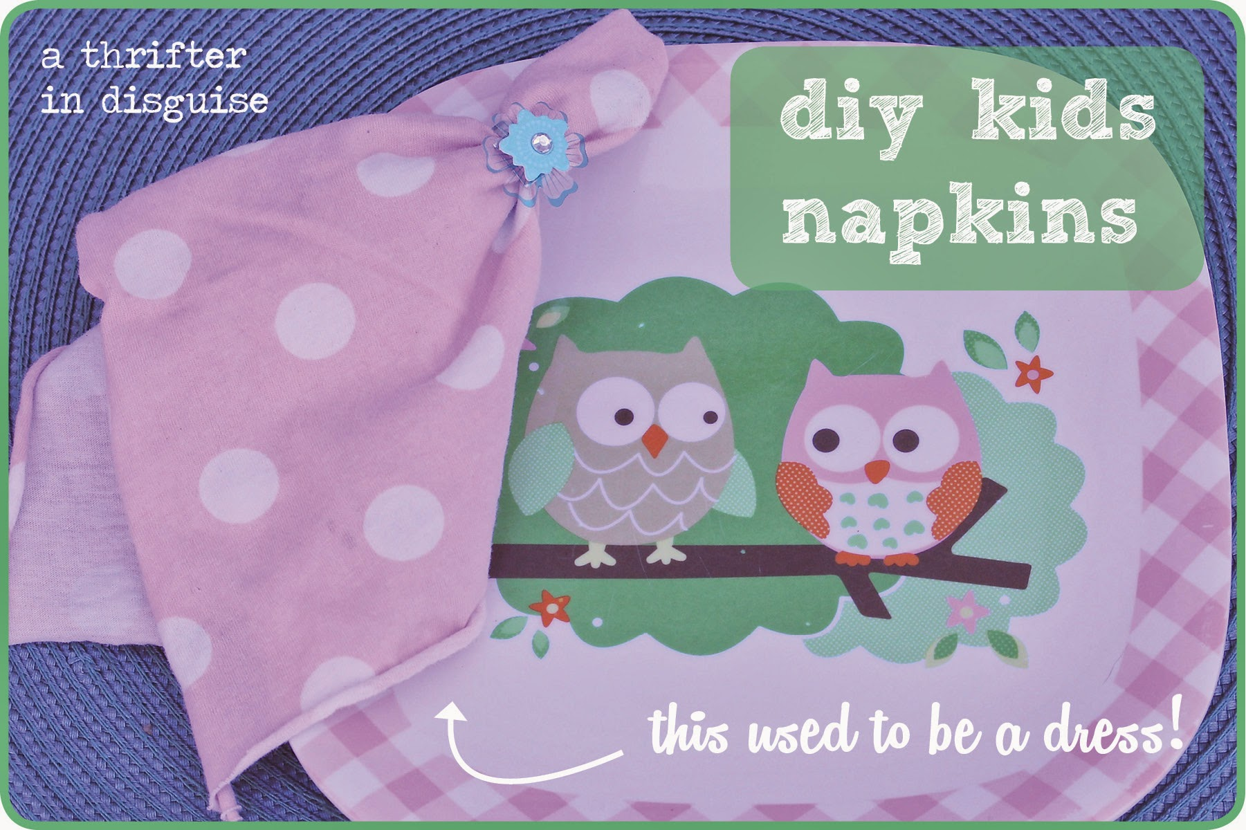 Alternatives to paper napkins for kids