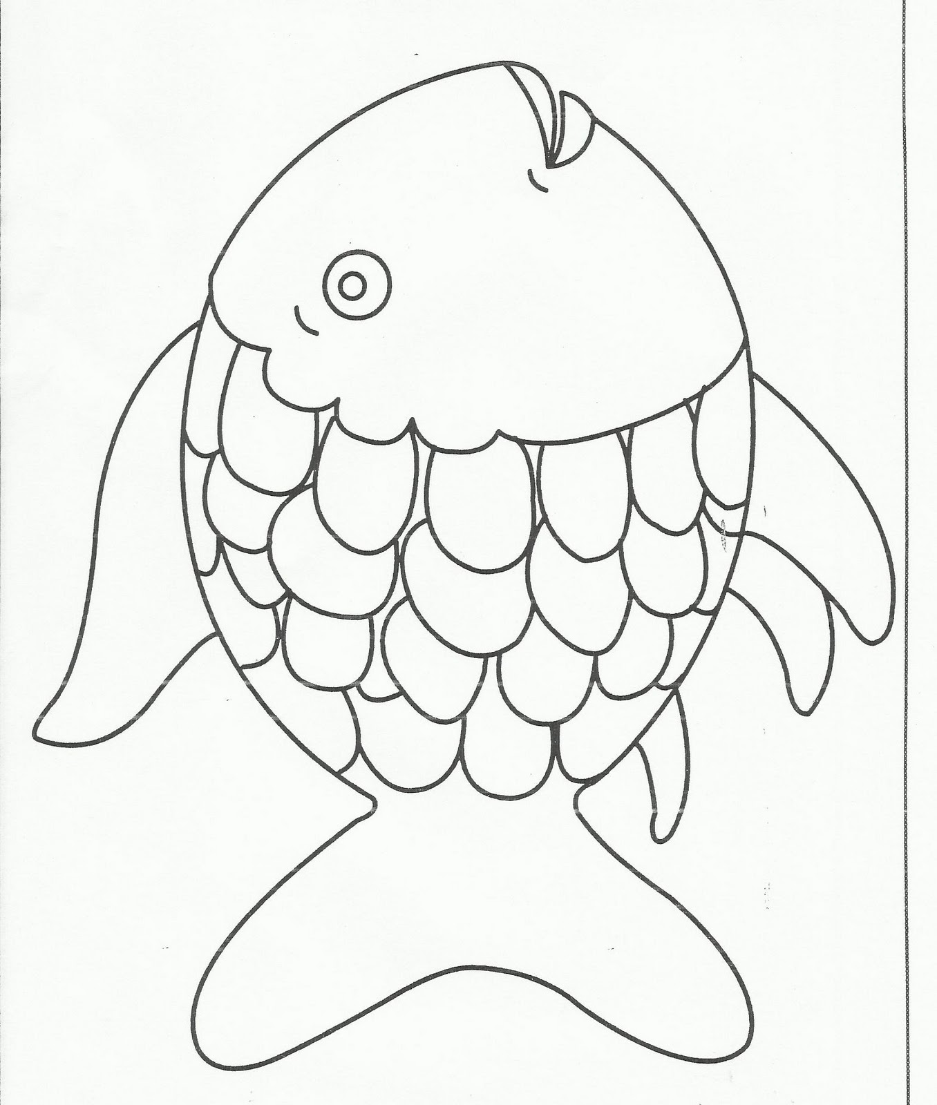 rainbow fish craft template sketch template