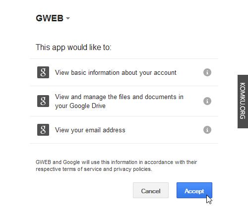 gweb.io app