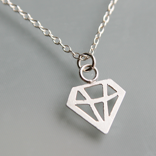 Sterling silver geometric diamond necklace tutorial