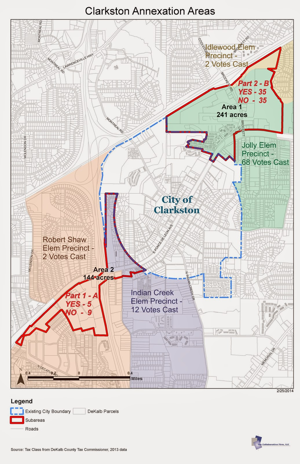 this map of clarkston is modified from the version first prepared by the city to also show the 4 precincts involved in the annexation referendum