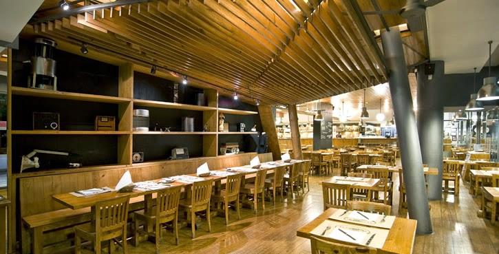 Fotografia do interior do restaurante onde foi realizada a atividade de preparação final