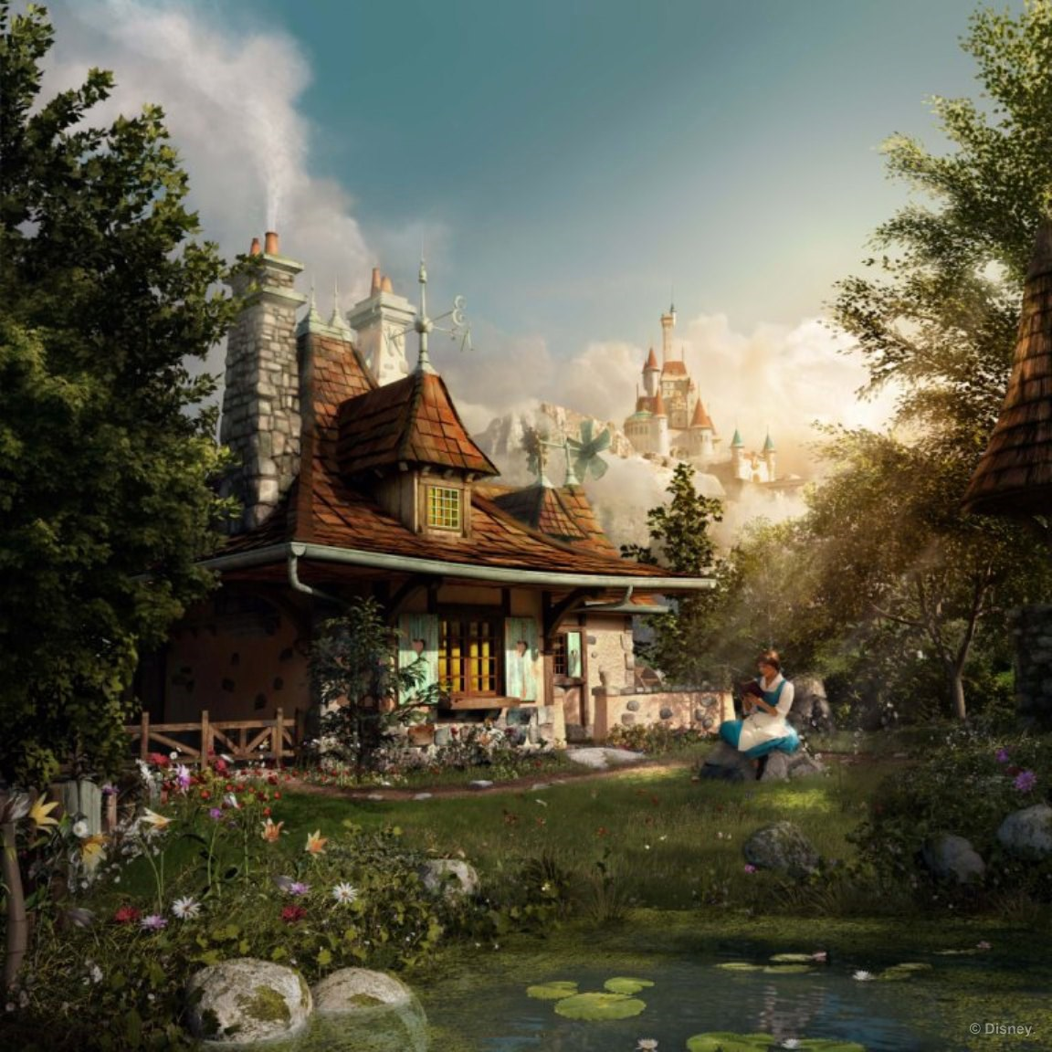 Sasaki Time: New Concept Art: Belle\'s Village