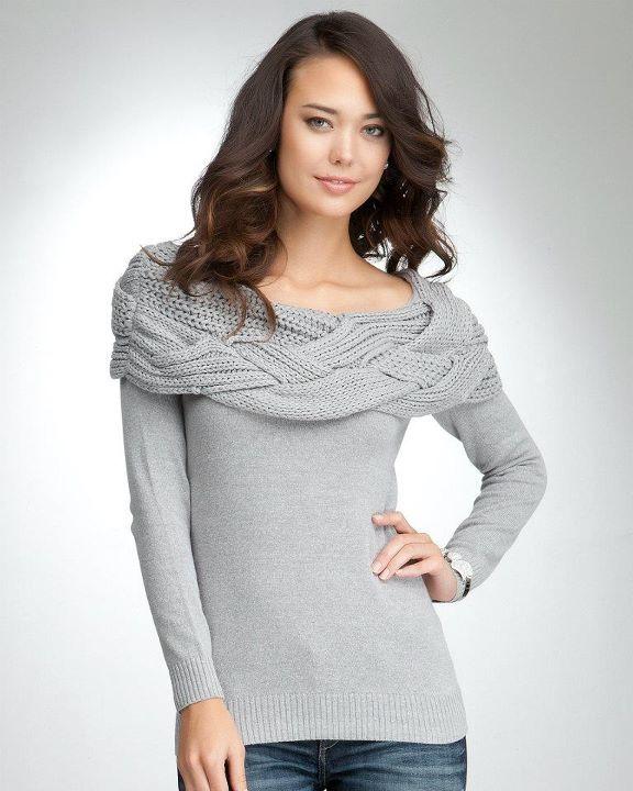 Knit Off Pattern Shoulder Sweater Cardigan Crochet Tutorial