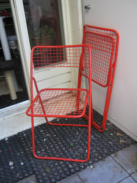 look what i found two ikea wire chairs