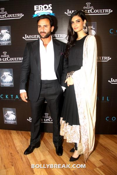 Diana Penty in pakistani lawn suit with saif ali khan - Diana Penty at imperial hotel with Saif Ali Khan