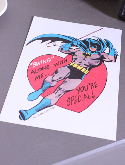 Vintage Batman Valentine's Day card