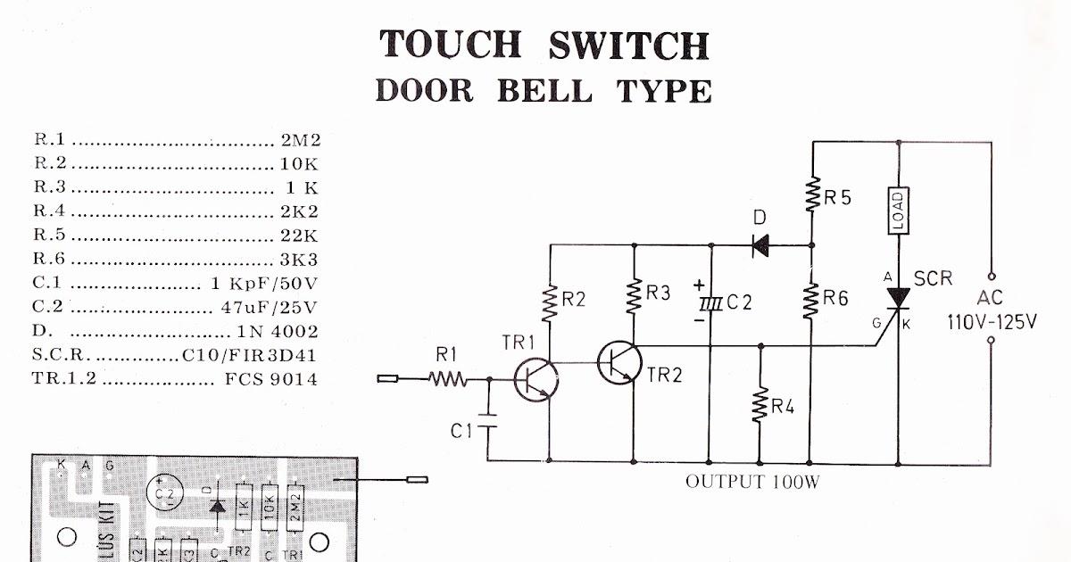 touch switch door bell type