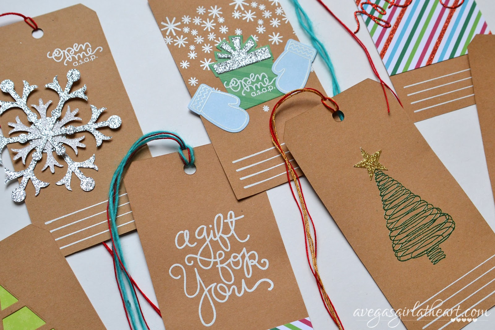 A Vegas Girl at Heart: Handmade Christmas Gift Tags
