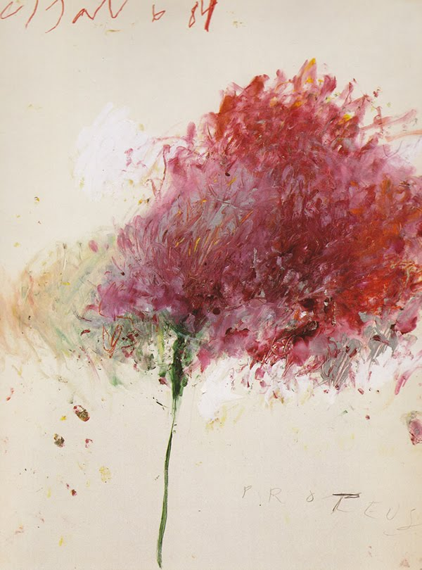 Cy Twombly, Proteus (oil on canvas, 1984)
