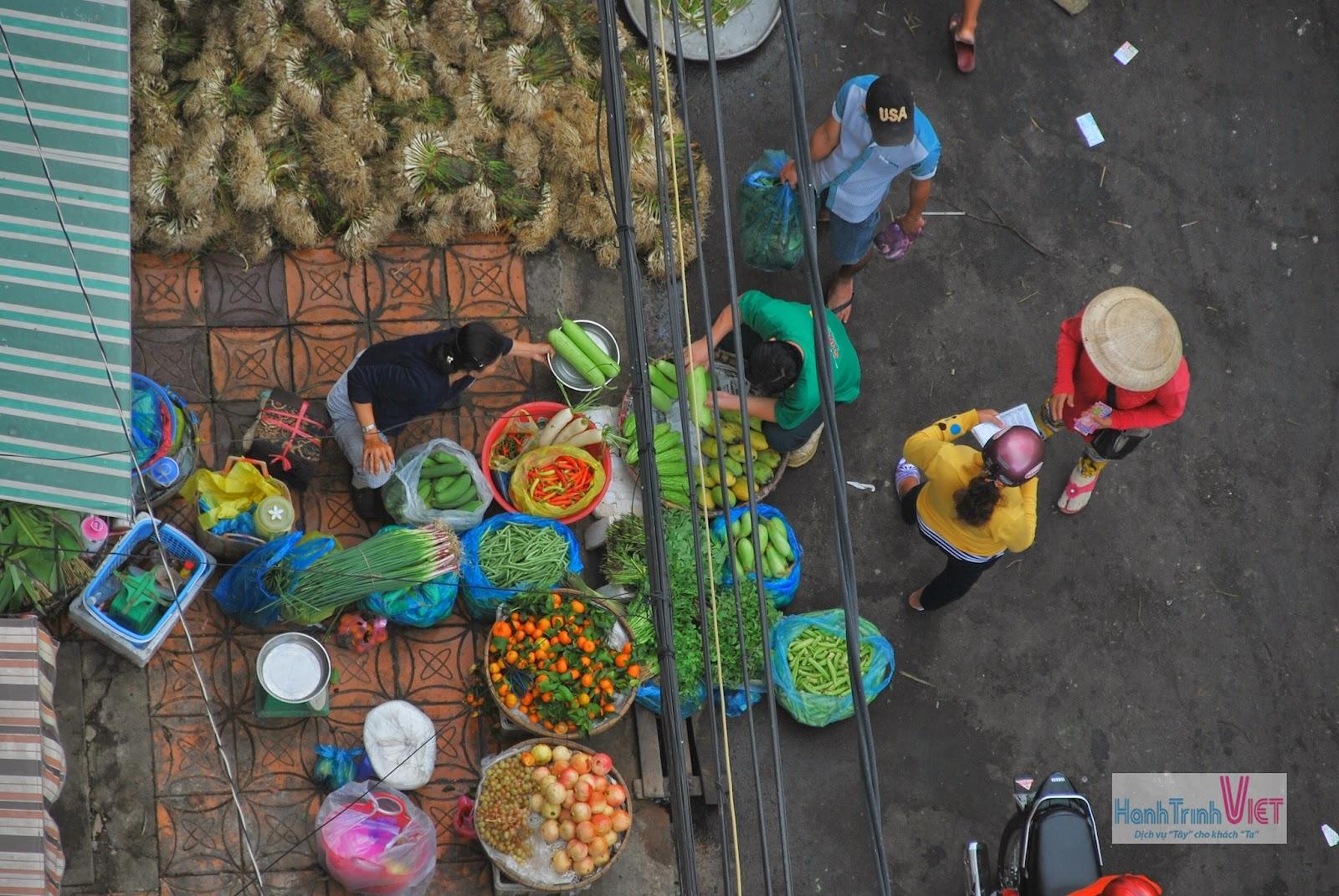 Một góc chợ Cần Thơ vào buổi sáng