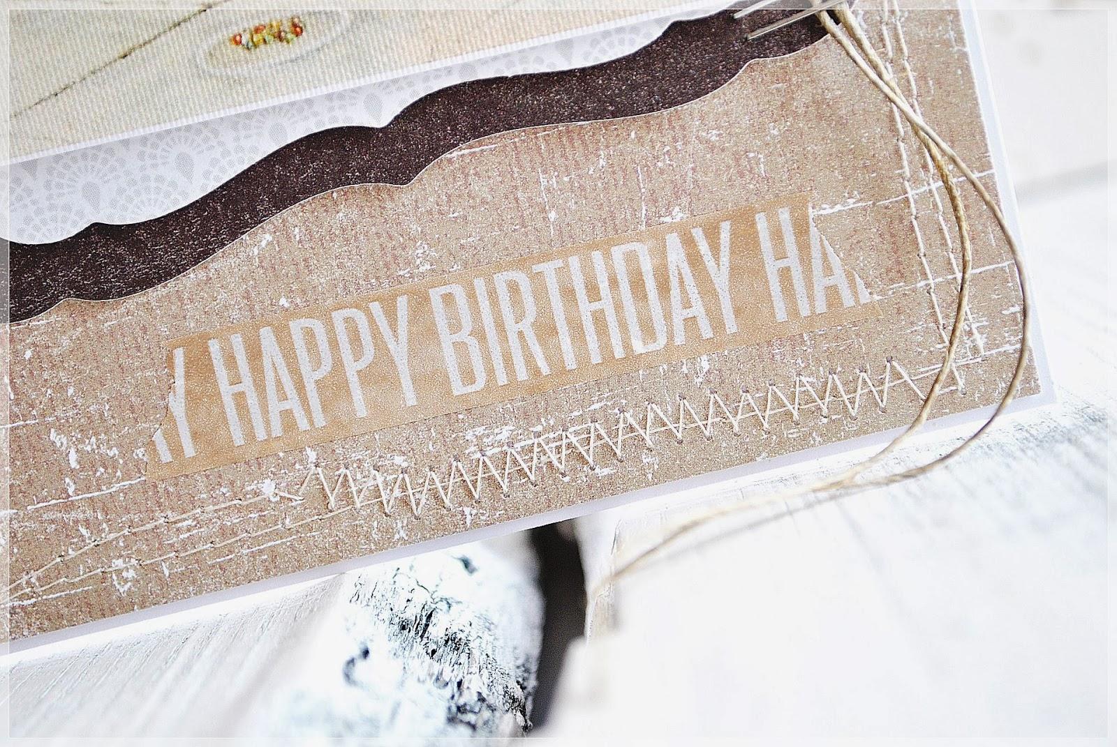 kartka urodzinowa dla chłopca scrapbooking